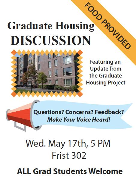 Wednesday: Graduate Housing Discussion